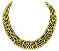 Estate Tresor 2.80ct Diamond Gold Necklace