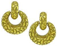 Estate Gold Door Knocker Earrings