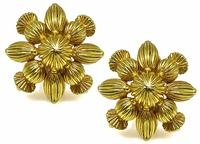 Estate Lalaounis Gold Earrings