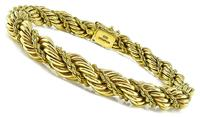 Estate Tiffany & Co Gold Twisted Rope Bracelet