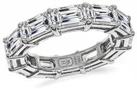 Estate Harry Winston 6.20ct Diamond Eternity Wedding Band