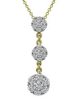 Estate Jabel 2.00ct Diamond Pendant Necklace