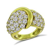 Estate Jose Hess 5.50ct Diamond Gold Ring