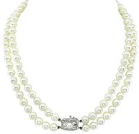 Estate Mikimoto Two Strands Pearl necklace