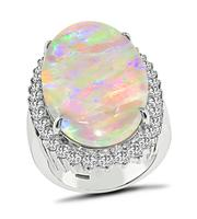 Estate Opal 2.15ct Diamond Cocktail Ring