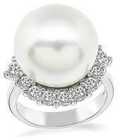 Estate Pearl 1.52ct Diamond Ring