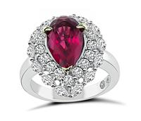 Estate 3.50ct Pink Tourmaline 1.10ct Diamond Cocktail Ring