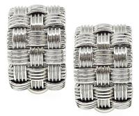Estate Roberto Coin Weave Earrings