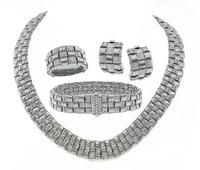 Estate Roberto Coin Weave Necklace Bracelet Earrings and Ring Set
