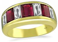 Estate 1.70ct Ruby 1.05ct Diamond Ring