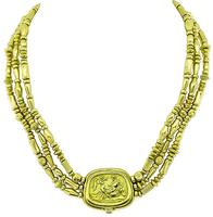 Estate Seidengang Greco Roman Gold Necklace