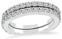 Estate 1.25ct Diamond Wedding Band Set