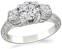 Estate 0.84ct Diamond Tacori Engagement Ring