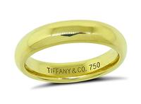 Estate Tiffany & Co Gold Wedding Band