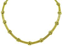 Estate Tiffany & Co Gold Necklace