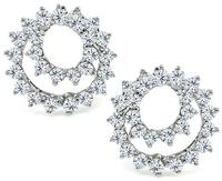 Estate Tiffany & Co 4.00ct Diamond Swirl Earrings