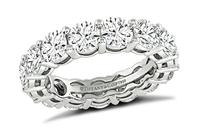 Estate Tiffany & Co 4.50ct Diamond Eternity Wedding Band