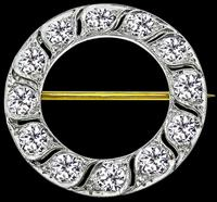 Estate Tiffany & Co 3.00ct Diamond Round Pin