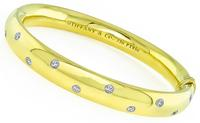 Estate Tiffany & Co 0.40ct Diamond Etoile Bangle