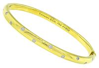 Estate Tiffany & Co Diamond Etoile Bangle