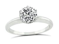 Estate Tiffany & Co GIA Certified 0.99ct Diamond Solitaire Engagement Ring