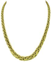 Estate Tiffany & Co Gold Weave Necklace