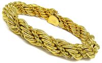 Estate Gold Rope Bracelet