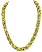 Estate Tiffany & Co Twisted Rope Gold Necklace