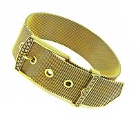 Estate Diamond Gold Belt Buckle Bracelet