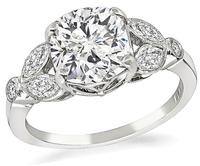 Estate GIA Certified 2.03ct Diamond Engagement Ring