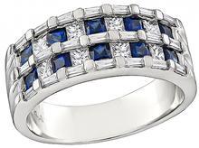 0.80ct Diamond 0.80ct Sapphire Ring