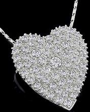 3.00ct diamond heart pin photo 1