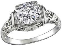 Edwardian 1.10ct Diamond Engagement Ring