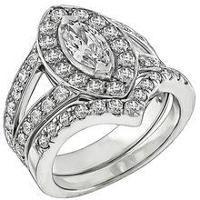 Estate 0.51ct Diamond Engagement Ring and Wedding Band Set Photo 1