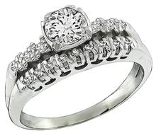 Estate 0.53ct Diamond Engagement Ring and Wedding Band Set Photo 1