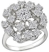Estate 2.20ct Diamond Cocktail Ring