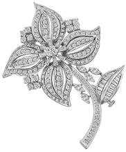 Estate 5.50ct Diamond Flower Pin Photo 1