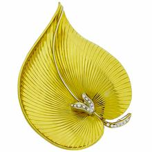 Diamond Gold Elephant Ear Pin