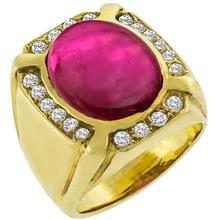 Pink Tourmaline Diamond Gold Cocktail Ring