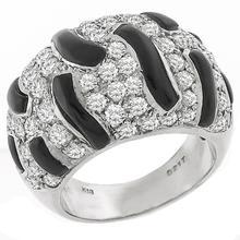 2.17ct Diamond Onyx Gold Ring