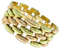 Retro Two Tone Gold Bracelet