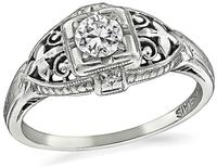 Edwardian 0.20ct Diamond Engagement Ring