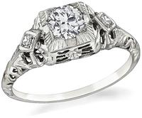 Edwardian 0.48ct Diamond Engagement Ring