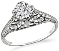 Edwardian 0.55ct Diamond Engagement Ring