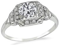 Art Deco 0.50ct Diamond Engagement Ring