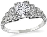 Art Deco 0.60ct Diamond Engagement Ring