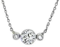 Victorian 0.85ct Diamond Necklace