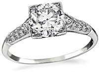 Vintage GIA Certified 1.05ct Diamond Engagement Ring