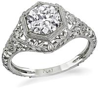 Edwardian Style 1.10ct Diamond Engagement Ring