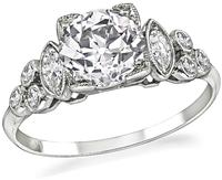 Art Deco 1.26ct Diamond Engagement Ring